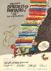 Verso de Spirou et Fantasio -3e81- Les Chapeaux noirs