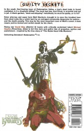 Verso de Daredevil: Redemption (2005) -INT- Redemption
