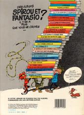 Verso de Spirou et Fantasio -6c1984- La corne de rhinocéros
