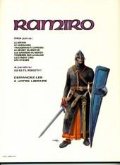 Verso de Ramiro -3a84- Traquenard à Conques : Mission pour Compostelle 1