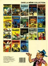 Verso de Sammy -14a1985- Les gorilles marquent un but