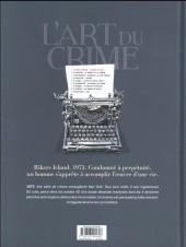 Verso de L'art du crime -1- Planches de Sang