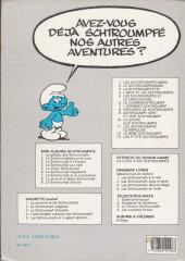 Verso de Les schtroumpfs -1c88- Les Schtroumpfs noirs