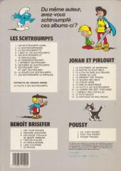 Verso de Les schtroumpfs -3b84- La Schtroumpfette
