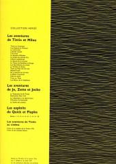 Verso de Tintin - Divers -c1b66- Tintin et le mystère de la toison d'or