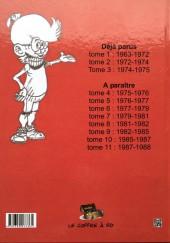 Verso de Génial Olivier -INT03- Intégrale volume 3 : 1974-1975