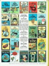 Verso de Tintin (Historique) -23C4- Tintin et les picaros