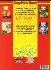 Verso de Angèle & René -1a1999- Copains comme cochons