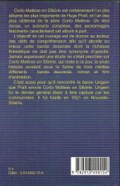 Verso de Corto Maltese (Divers) - Lire et comprendre... Corto Maltese en Sibérie