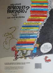Verso de Spirou et Fantasio -1d1984- 4 aventures de Spirou