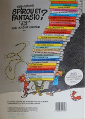 Verso de Spirou et Fantasio -9b1984- Le repaire de la murène