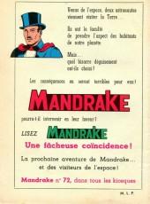 Verso de Mandrake (1e Série - Remparts) (Mondes Mystérieux - 1) -71- La poupée mexicaine