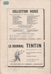 Verso de (Recueil) Tintin (Album du journal - Édition belge) -99- Album n° 99