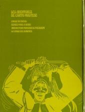 Verso de Corto Maltese (première série cartonnée) -4- Vaudou pour Monsieur le Président