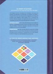 Verso de La petite Bédéthèque des Savoirs -5- Le Droit d'auteur - Un dispositif de protection des œuvres