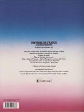 Verso de Histoire de France en bandes dessinées (Intégrale) -3b- De Saint Louis à Jeanne d'Arc