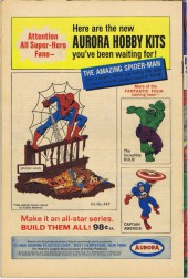 Verso de Strange Tales (Marvel - 1951) -153- Nick Fury agent of S.H.I.E.L.D/Dr Strange