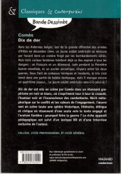 Verso de Dix de Der - Tome Poche