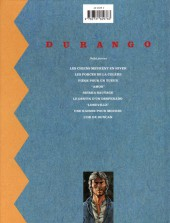 Verso de Durango -8a1998- Une raison pour mourir