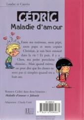 Verso de Cédric (Bibliothèque rose) -71427- Maladie d'amour
