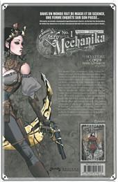 Verso de Lady Mechanika -1- Le Mystère du corps mécanique (1re partie)