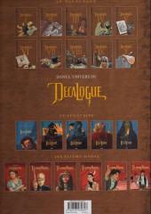 Verso de Le décalogue -1a2013- Le manuscrit