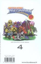 Verso de Megaman NT Warrior -4- Tome 4
