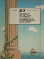 Verso de Alix -2b1972- Le sphinx d'or
