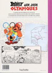 Verso de Astérix (albums Luxe en très grand format) -12- Astérix aux jeux olympiques