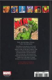 Verso de Marvel Comics - La collection (Hachette) -6161- The Incredible Hulk - Cris Silencieux