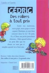 Verso de Cédric (Bibliothèque rose) -91429- Des rollers à tout prix