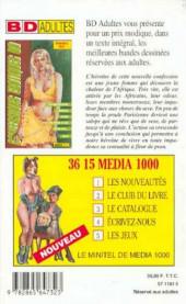 Verso de Confessions érotiques BD (Média 1000) -86- Nadine : J'ai découvert l'amour dans les bras d'un Africain...