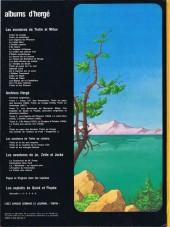 Verso de Tintin - Divers -C3a83- Tintin et le lac aux requins