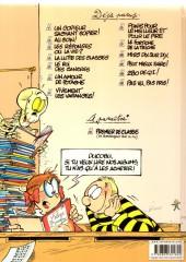 Verso de L'Élève Ducobu -12a2008- 280 de Q.I.!