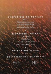 Verso de (Catalogues) Éditeurs, agences, festivals, fabricants de para-BD... - Catalogue - Glénat (Collection Grafica)