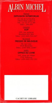 Verso de (Catalogues) Éditeurs, agences, festivals, fabricants de para-BD... - Albin Michel - 1990 -Guide