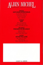 Verso de (Catalogues) Éditeurs, agences, festivals, fabricants de para-BD... - Albin Michel - 1988 -Guide