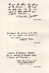 Verso de Animaux a(d)mis