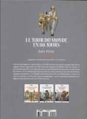 Verso de Les grands Classiques de la littérature en bande dessinée (Glénat/Le Monde) -1- Le tour du monde en 80 jours