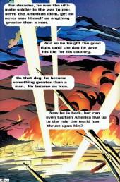 Verso de Captain America (1998) -1- The return of Steve Rogers Captain America