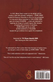 Verso de Atomic Robo (2007) - The Fightin Scientists of Tesladyne