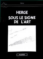 Verso de Tintin - Pastiches, parodies & pirates - Hergé sous le signe de l'art