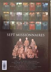Verso de Sept -4b- Sept missionnaires