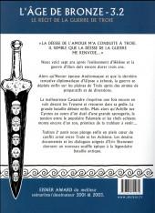 Verso de L'Âge de bronze -32a2016- Trahison partie 2