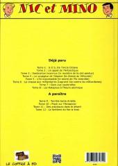 Verso de Nic et Mino (Le Coffre à BD) -8- Les Ratapous à l'heure atomique
