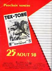 Verso de Tex-Tone -31- Le sheriff aurait... peur!