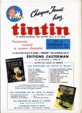 Verso de (Recueil) Tintin (Album du journal - Édition française) -74- Tintin album du journal (n°991 à 1003)