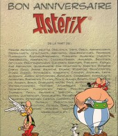 Verso de Astérix (Autres) - Astérix 45 ans d'irrévérence
