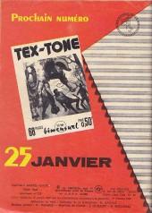 Verso de Tex-Tone -280- La nuit de la peur