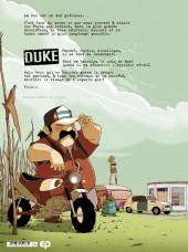 Verso de Parasites -1- Duke